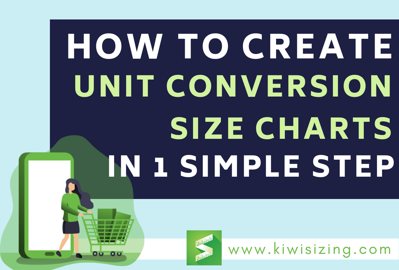 Create unit conversion size charts in 1 simple step
