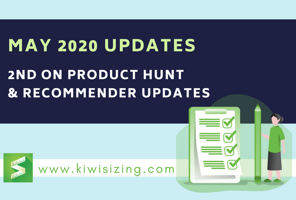 May 2020 Updates: 2nd on Product Hunt + Recommender updates